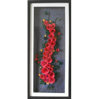 7a9068c0ff07 buy handmade paper quilled beautiful rose wall art decorative onlinebuy  handmade paper quilled beautiful rose wall
