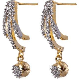 Lucky Jewellery American diamond bali style jhumki