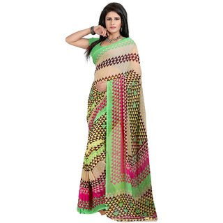 Fabdeal Multicolor Colored Weightless Printed Saree
