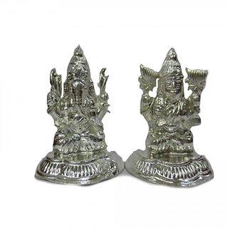 Buy Pure Silver Laxmi Ganesh Idol Set Online ₹1699 From