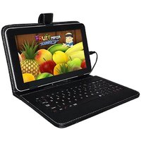 7inch Zync Rainbow Tab with inbuilt Keyboard Case And Micro Usb Cable-Black
