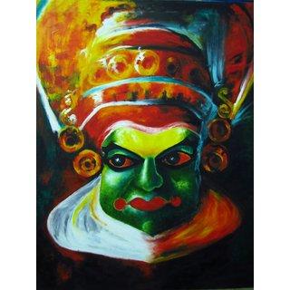 Handmade Canvas Kathakali Paniting