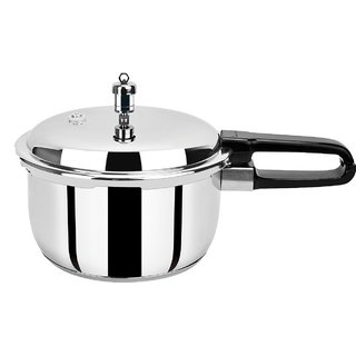PRISTINE Induction Base Stainless Steel Pressure Cooker, 2L