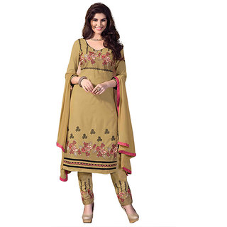 Designer Cotton Embroidered Dress Material