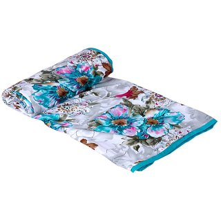 Indiweaves Micro Fiber Dohar/Ac Blanket For Double Bed -Blue (90361-IW-DB)