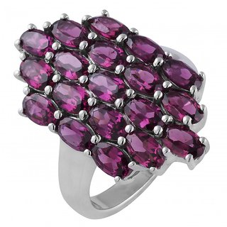 Allure jewellery 925 sterling silver single color stone with cz stone ring