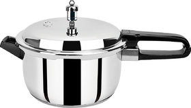 PRISTINE Induction Base Stainless Steel Pressure Cooker, 5L