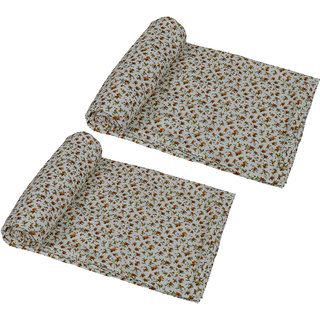 IndiWeaves Micro Fiber  Dohar/Ac Blanket  set for Single Bed (2 pieces)-White