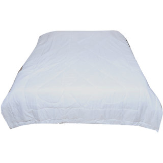 Indiweaves Micro Fiber Winter Quilt For Double Bed -White (91100-IW-DB)