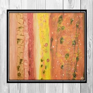 Suman Bhandari Texture play acrylic painting reprint on canvas