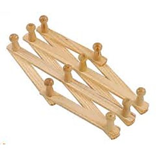 Connectwide Wooden Expandable Hanger Fold Expanding  With 10 Pegs