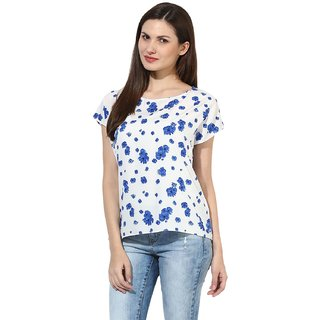 89ea30d143c11 Buy Harpa White Floral Print Short Sleeve Womens Top Online   ₹539 ...