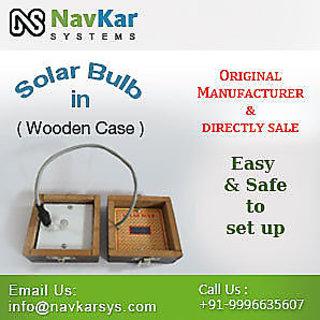 Solar Bulb (Wooden)  Solar Powered Bulb  Solar Educational Kits