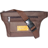Style98 Brown Genuine Leather Waist Bag For Men And Women 5021IB
