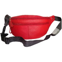 Style98 Black Genuine Leather Waist Pack For Men And Women 45006IC