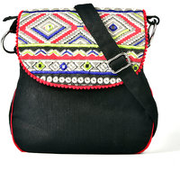 Pick Pocket Triangle Printed With Aabla Embroidery On Flap Sling