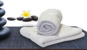 Story@Home White 2 Piece 450 GSM 100% Cotton Hand Towel Set (40X60 cms)