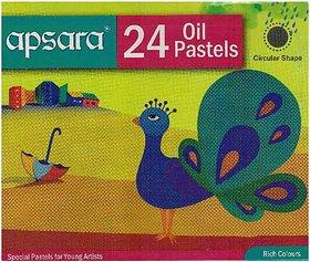 Apsara Oil Pastel 24 Col. (Pack of 2)