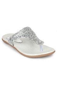 Do Bhai Women's Silver Flats