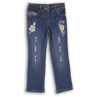 Lilliput Casual Solid Spring Flowers Jeans (8907264018876)