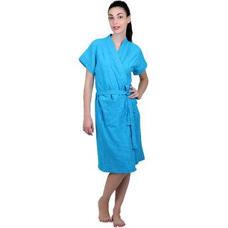 Vixenwrap Blue Water Absorbent Cotton Bathrobe