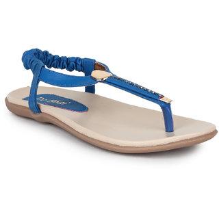 Do Bhai Women's Blue Sandals