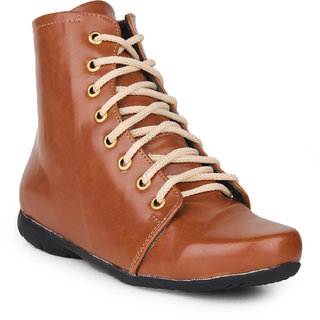 Do Bhai Women's Tan Boots