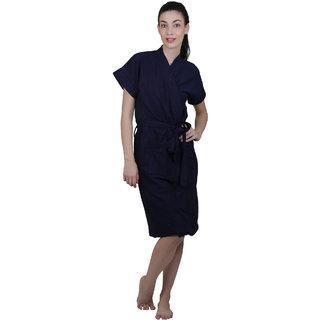 Vixenwrap Navy Blue Water Absorbent Cotton Bathrobe
