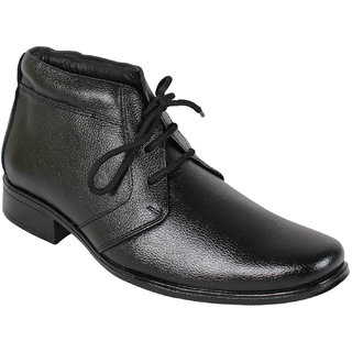Leather Soft Men's Black Formal Shoes