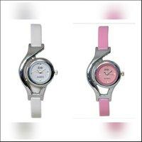 (Combo Of 2) Esle Stylish White  Pink Analog Watches For Women.
