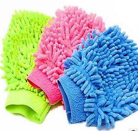 Car Cleaning Glove Cloth Micro Fibre Hand Wash (1pcs)