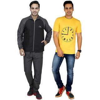 Pro Lapes Combo Of Tracksuit & Printed T-Shirt (PL2M2001-1506C)