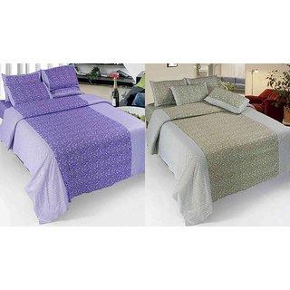 K Decor Set of 2 Cotton Double Bedsheet(CTN-08)