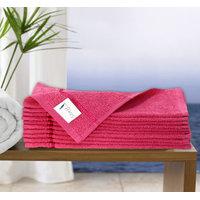 Story@Home Pink 10 Piece 450 GSM 100% Cotton FaceTowel Set (30X30 cms)