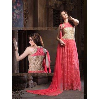 Fabliva Latest Designer Heavy Peach Designer Gown