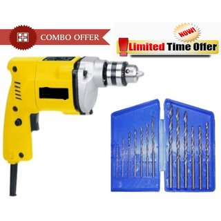 Special Combo Offer! Shopper52 Drill Machine With 13Pcs Drill Bit Set - CMDRL13B
