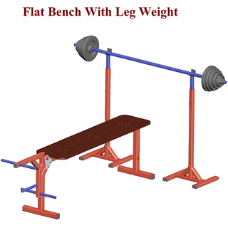 Flat Bench with leg weight and stand