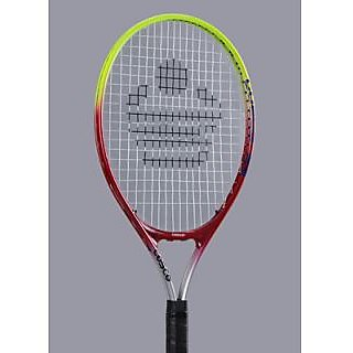 Cosco-23 Tennis Racquet (Silver Red Green) At Lowest price.