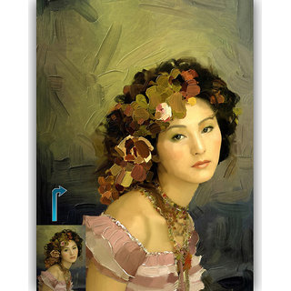Vitalwalls - Portrait   Canvas Art Print -  Pure Wooden FrameOriental-126-F-45
