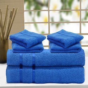 Story@Home 6 Pcs 100% Cotton450 GSM Towel(140x70 cms)