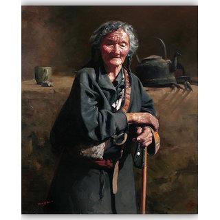 Vitalwalls - Portrait Painting -Premium Canvas Art Print.Oriental-133-30