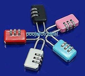 Mini 3 Digit Resettable Combination Luggage Suitcase Lock Padlock