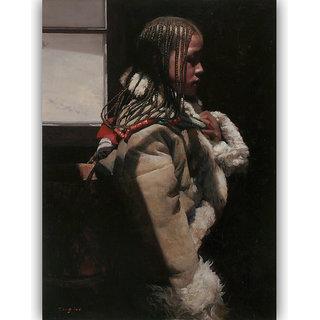 Vitalwalls - Portrait Painting -Premium Canvas Art Print.Oriental-139-30