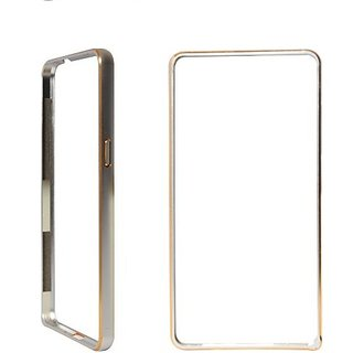 Aluminium Metal Dual Toned Stylish Bumper Case For Motorola MOTO G3 - Silver