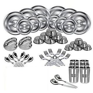 STAINLESS STEEL DINNER SET 51 Pieces