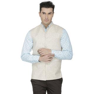 Inspire Cream Linen Modi Jacket