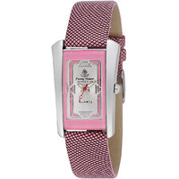 Ferry Rozer Pink  Silver Color Dial Analog Watch For Wo