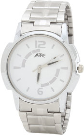 Atc Round Dial Silver Metal Strap Quartz Watch For Men