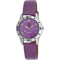 Ferry Rozer Purple Dial Round Shape Analog Watch For Wo