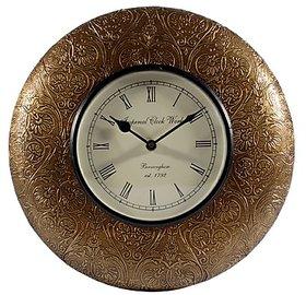 Jodhpuri Vintage Wall Clock Golden